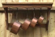 Antique 4 x French, Nesting COPPER COOKING SAUCEPANS/PANS