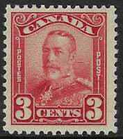 Scott 151 - 3c Dark Carmine King George V Scroll Issue, F-VF-VLH