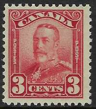 Scott 151 - 3c Dark Carmine King George V Scroll Issue, F-VF-VLH