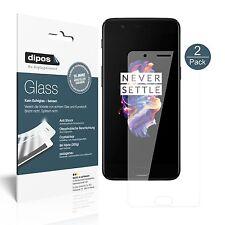 2x OnePlus 5 protector de pantalla vidrio flexible cristal proteccion 9h Dipos