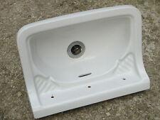 39 X 28 cm - Ancien petit lavabo mural, vasque en céramique