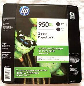 Brand New HP 950XL 2 Pack High Yield Cartridges Black