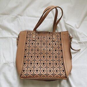 New Steve Madden Peachy Beige Lasercur Handbag
