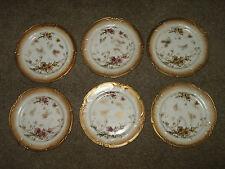 """6 Vintage Antique DOULTON Burslem Porcelain 9"""" PLATES  Royal"""