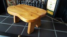 Vintage Arts & Crafts Small Solid Wood Rustic Chunky Stool Milking Stool
