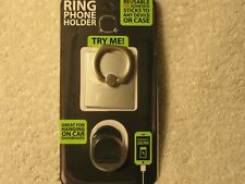 Gadget Gear Ring Phone Holder With Adhesive Car Dashboard Mount Stand Black
