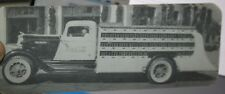 Richfield Oil & Coca-Cola Advertising Delivery Truck Elongated Postcard 1930's