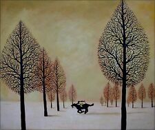 Quality  Hand Painted Oil Painting, The Lost Jockey Repro. 20x24in