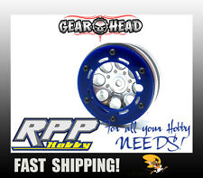 Gear Head RC Axial 1.9 Wheel Beadlock Ring Style No.1 Blue Acrylic(4) GEA1228