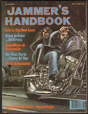 1980 JAMMER'S HANDBOOK 8th EDITION, CHOPPER PARTS DESIGN CATALOG HARLEY HONDA