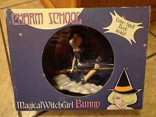 2002 MONKEY FUN TOYS-- CHARM SCHOOL--MAGICAL WITCH GIRL BUNNY FIGURE (NEW)