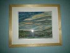 "Original Watercolour  Picture ""Asperatus Clouds Over Perthshire"""