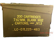 Military 30 CAL M19A1 Metal AMMO CAN 7.62mm BOX .30 CALIBER Excellent Condition