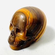 Genuine Giant Brown Tiger Eye Skull 650ct Approx. 1 31/32x1 3/8x1 9/16in