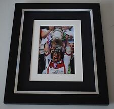 Keiron Cunningham SIGNED 10x8 FRAMED Photo Autograph Display Rugby St Helens COA