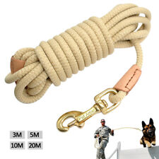 10/16/33/66ft Heavy Duty Dog Tracking Leash Training Recall Nylon Rope Rolled