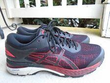 Mens Asics Gel Kayano-25 black/red running shoes sz 11.5