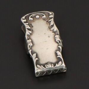 VTG Sterling Silver - ANTIQUE Art Nouveau Scroll Bib Clip - 3g