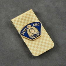 RCMP Canadian Mounted Police Patch Shoulder Flash Money Clip Gold NEW