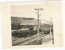 Frankreich alter Bahnhof Zug Waggon Zerstörung  Wehrmacht Foto 2 WK