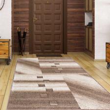 Teppich Designteppich Muster Modern Kariert Flauschig Weich Beige Braun 5 Größen