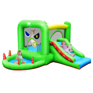 Inflatable Bouncer Kids Bounce House Jump Climbing Slide BallPit Without Blower