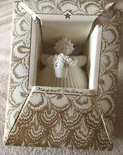 """Flower Basket Retired Margaret Furlong Porcelain Bisque 2"""" Ornament"""