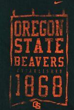 Oregon State Beavers Established 1868 M Black T-Shirt Osu Nike Mexico Orange
