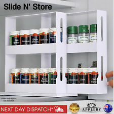 Spice Herb Holder Sliding Rack Kitchen Cupboard Cabinet Storage Organiser Shelf