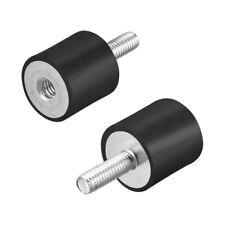 M6 Rubber Anti Vibration Isolators Mounts Shock Absorber D20mm X H20mm 2pcs