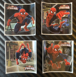 Spider-Man Stickers x 8 - Party Stickers Birthday Loot - Party Favours Spiderman