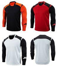 Mizuno Men GAME 19 L/S T-Shirts Jersey Training Red Soccer Top Shirt P2MA9K5109