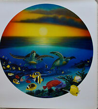 WYLAND SEA TURTLE REEF LITHOGRAPH SIGNED #734/950 W/COA STUNNING