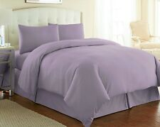 Egyptian Cotton DOUBLE DUVET SET 200TC Heather Lilac Mauve Bedding Set SALE