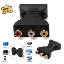 HDMI To 3 RGB/RCA Video Audio Adapter Digital Signal AV Component Converter