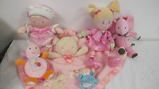 CARTERS BABY GIRL TOYS  PINK MY FIRST DOLL HUG A BEAR CUDDLY STARTERS ELEPHANT +