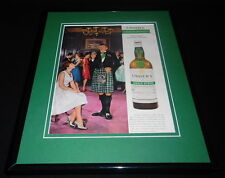 1960 Usher's Green Stripe Whisky 11x14 Framed ORIGINAL Advertisement