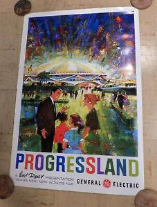 1964 1965 NYC Worlds Fair PROGRESSLAND POSTER General Electric NEW DIGITAL PRINT