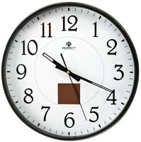 Modern Wall Clock Powered by Solar Battery - PERFECT - Black Case
