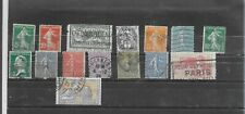 France 1906-1925. Selection Of 15. Used. As Per Scan
