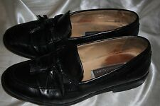 Johnston & Murphy Mens Tassle Black Loafers Moccasins Dress Shoes Size 10 W 1813