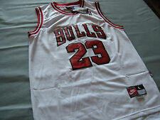 CHICAGO BULLS MICHAEL JORDAN  NIKE BASKETBALL JERSEY MENS LARGE NEW WHITE