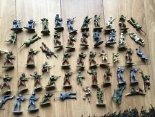 Vintage Mixed Toy Soldiers Plastic 1.32 Scale 1970s x 53 Approx Some Painted.