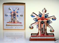 Vintage Wind Up Snow Flake Ferris Wheel Tin Toy Christmas Collectable Retro Gift