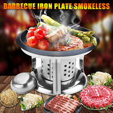 AU 4Pcs Alcohol Burner Grill BBQ Barbecue Iron Plate Base Camping Picnic Griller