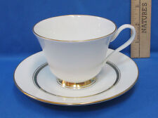 Vintage Tea Cup & Saucer White w/ Gold Trim Lenox Oxford Andorver Bone China
