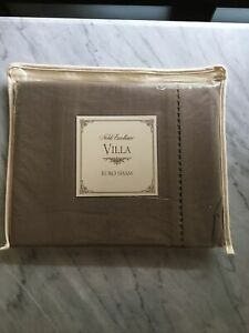 "New Noble Excellence Villa Prima Euro Pillow Sham Brown 26"" x 26"""