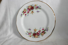 Queen Anne Bone China Small Pink Yellow Rose Pattern  Side Plate