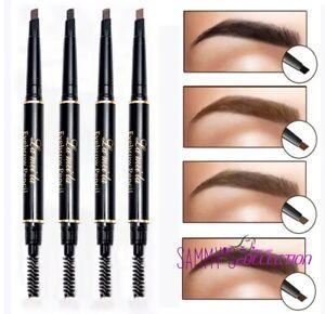 Waterproof Eyebrow Black Dark Brown Light Brown Pencil with Spoolie Makeup UK❤️
