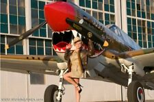 "2011 Warbird Pinup Girl WWII Airplane Curtiss P-40 Warhawk ""The Jacky C"" w/Katie"